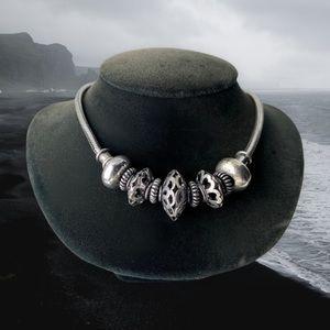900 silver bali viking bead necklace